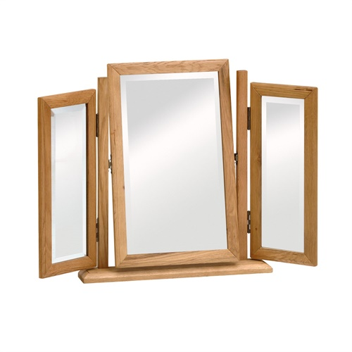 Warrington Oak Triple Dressing Table Mirror W515 With